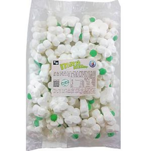 Marshmallow - Green Flowers - Apple