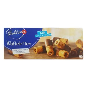 Wafer Rolls Half-Coated in Milk Chocolate