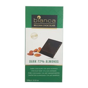 ביאנקה - שוקולד מריר 72% עם שקדים