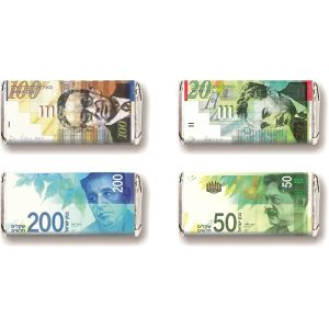 Milk Chocolate Napolitains - Israeli Money Bills