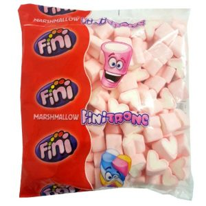 Marshmallow - White-Pink Hearts