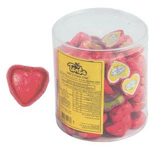 שוקולד לבבות - אדום