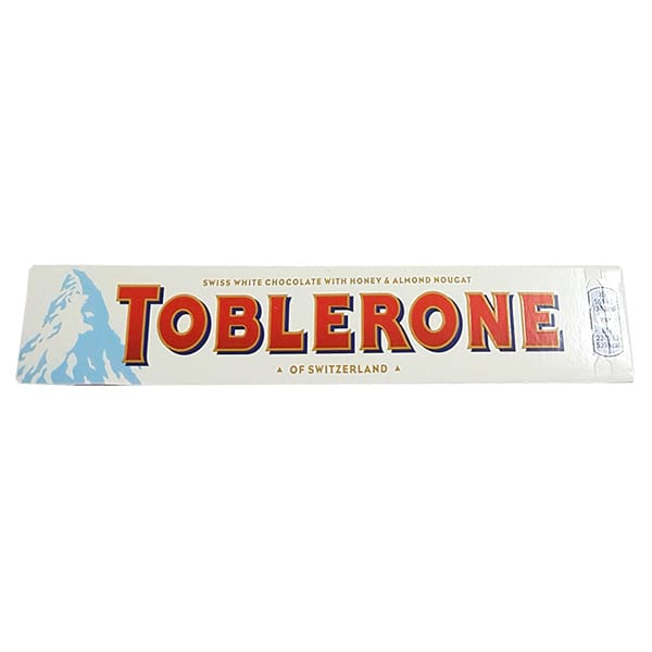 Toblerone White With Honey Almonds Nougat