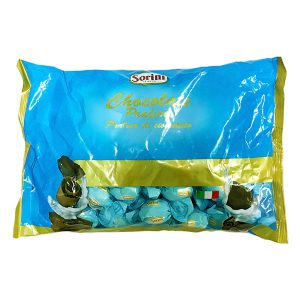 Wrapped Pralines - Milk filled with hazelnut cream and cereal - Blue