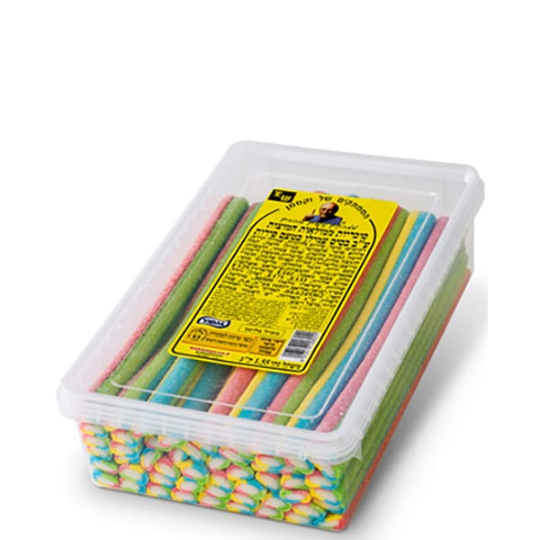 Gummies - Filled Sugarcoated Colorful Long Gummy
