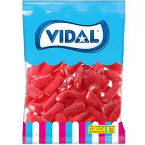 Gummies - Filled Sugarcoated Strawberry Flavor Short Gummy