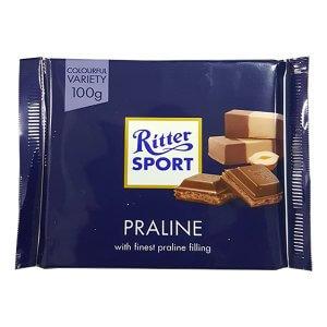 ריטר ספורט - שוקולד חלב ממולא קרם פרלין (קרם אגוזי לוז)