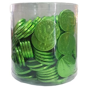 Chocolate Coins - Green White Chocolate