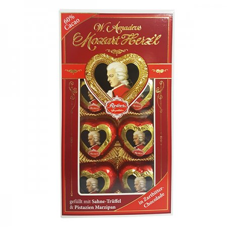 Mozart - Filled Dark Chocolate Hearts