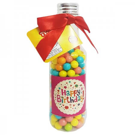 Beer Bottle with Candy - Happy Birthday