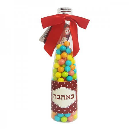 Wine Bottle with Candy - With Love