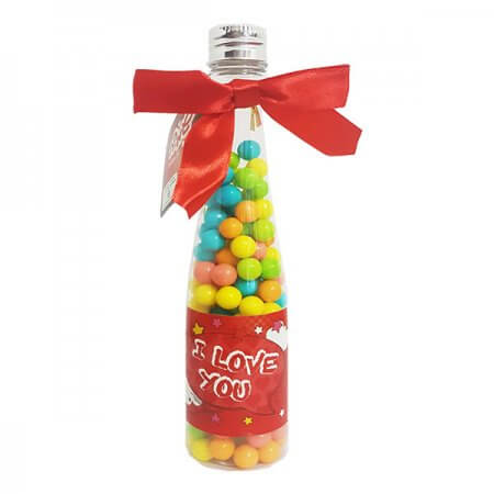 Wine Bottle with Candy - I Love You